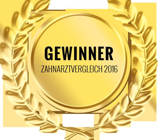 Gewinner Zahnarztvergleich 2016